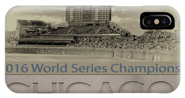 Chicago Cubs 2016 World Series Scoreboard IPhone Case