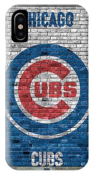 City iPhone Case - Chicago Cubs Brick Wall by Joe Hamilton