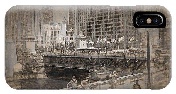 Chicago Dusable Bridge Street Scene IPhone Case