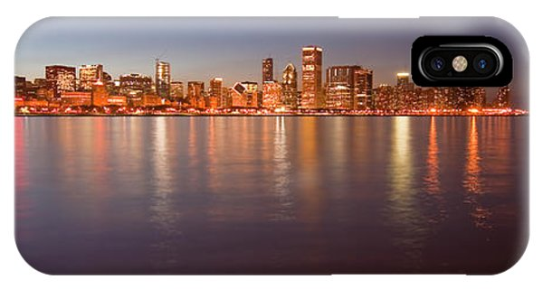 Chicago Dusk Skyline Panoramic  IPhone Case
