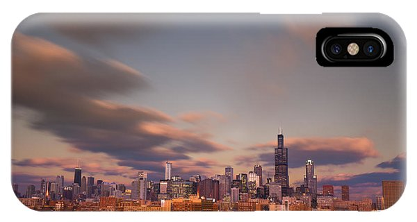 City Sunset iPhone Case - Chicago Dusk by Steve Gadomski