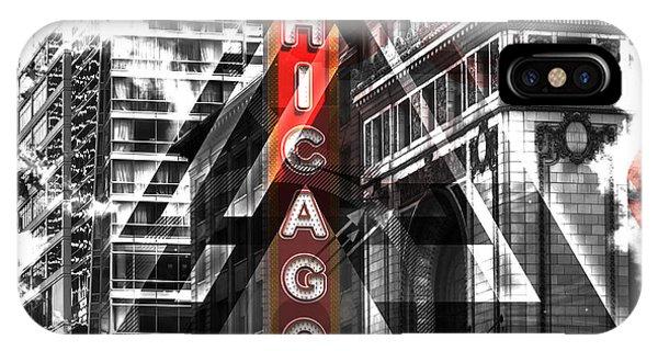Chicago Skyline Art iPhone Case - Chicago Geometric Mix No. 2 by Melanie Viola
