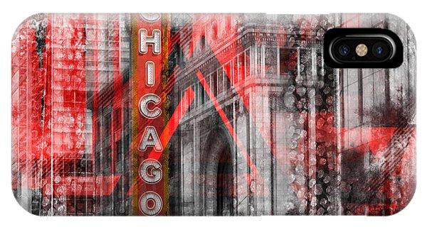 Chicago Skyline Art iPhone Case - Chicago Geometric Mix No. 4 by Melanie Viola