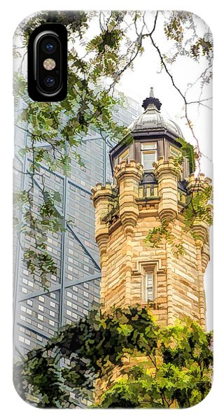 Chicago Historic Water Tower Fog IPhone Case