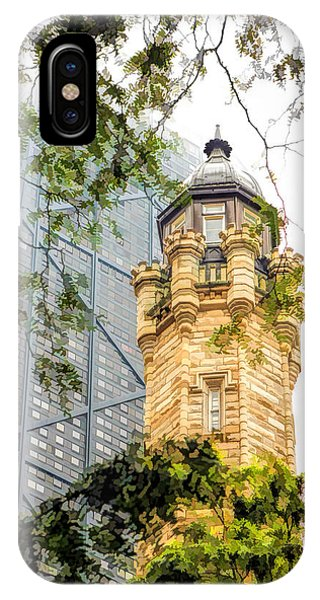 John Hancock Center iPhone Case - Chicago Historic Water Tower Fog by Christopher Arndt