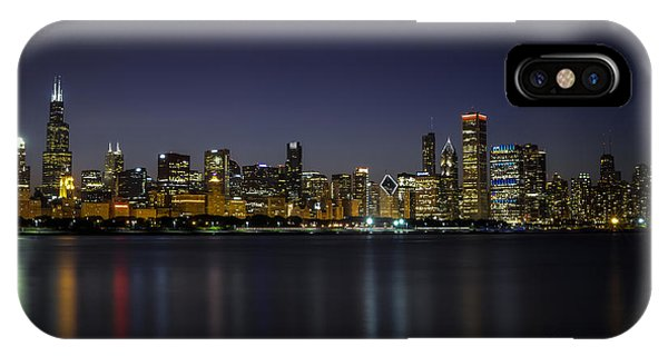 IPhone Case featuring the photograph Chicago In Blue by Andrea Silies