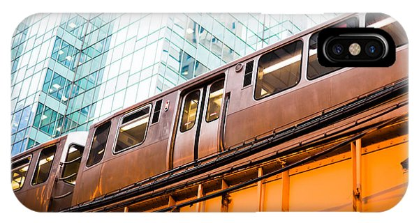 Chicago L Elevated Train  IPhone Case