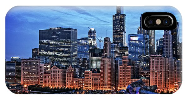 Chicago iPhone Case - Chicago At Night by Bruno Passigatti