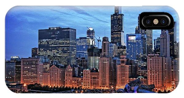 Chicago iPhone Case - Chicago At Night by Bruno Passigatti