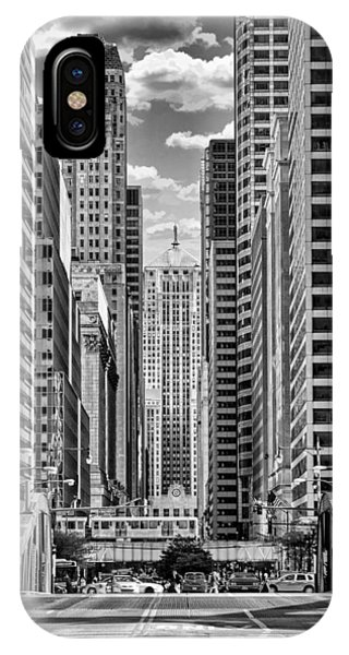 Chicago Lasalle Street Black And White IPhone Case
