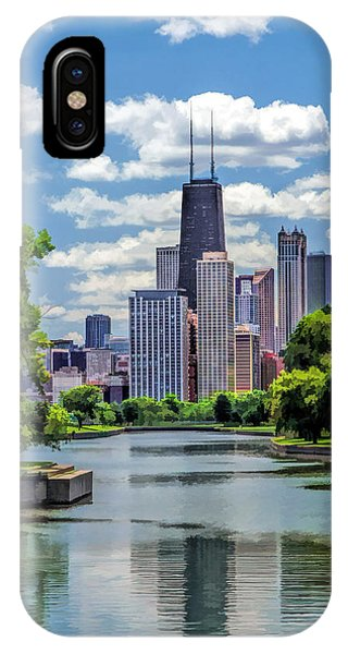 John Hancock Center iPhone Case - Chicago Lincoln Park Lagoon by Christopher Arndt