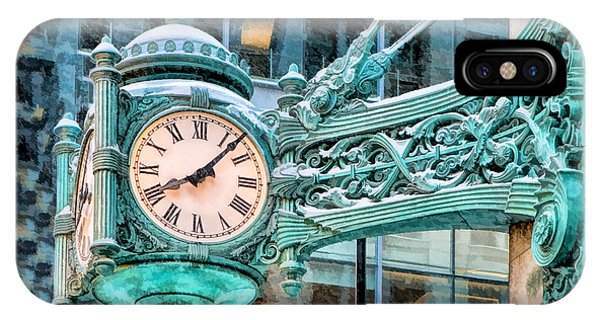 Chicago Marshall Field State Street Clock IPhone Case