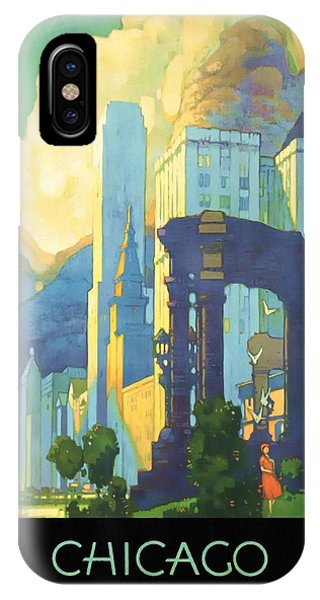 Chicago - New York Central Lines - Vintage Poster Restored IPhone Case