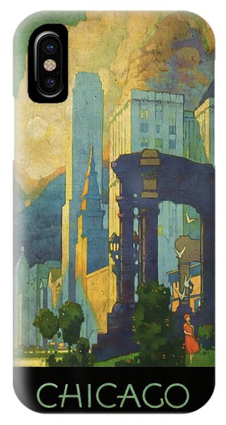 Chicago - New York Central Lines - Vintage Poster Vintagelized IPhone Case