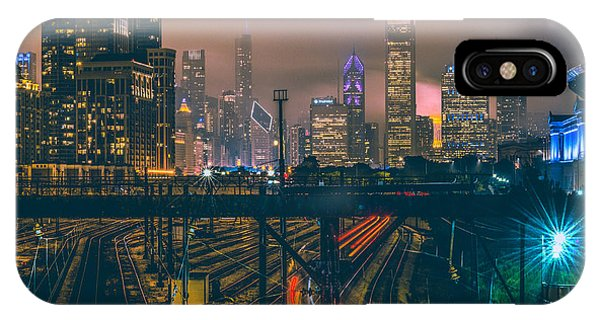 Skyline iPhone Case - Chicago Night Skyline  by Cory Dewald
