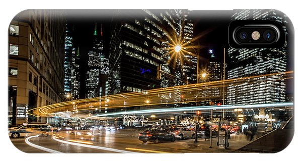 Chicago Nighttime Time Exposure IPhone Case