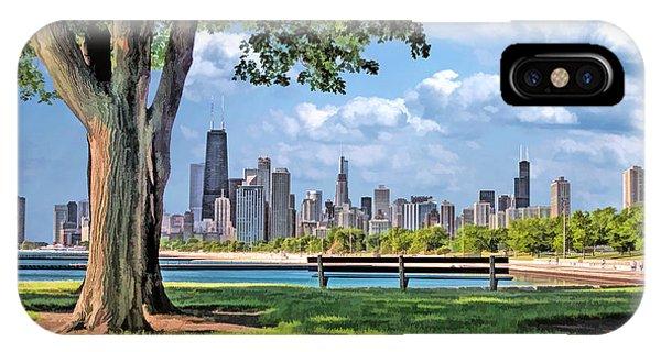 Chicago North Skyline Park IPhone Case