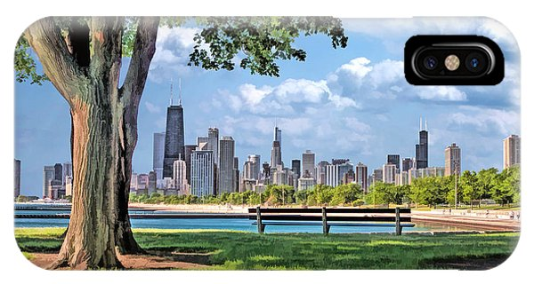 John Hancock Center iPhone Case - Chicago North Skyline Park by Christopher Arndt