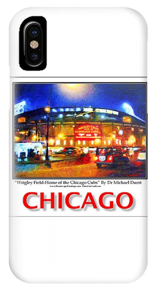 Chicago Poster Of Wrigley Field-home Of The Chicago Cubs IPhone Case