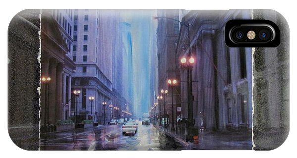 Chicago Rainy Street Expanded IPhone Case