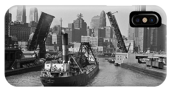 Chicago River iPhone Case - Chicago River 1941 by Daniel Hagerman