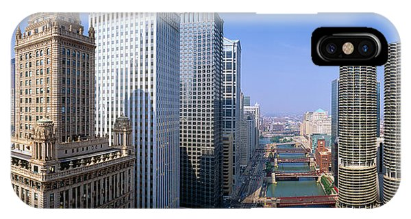 Chicago River, Aerial Shot, Illinois IPhone Case