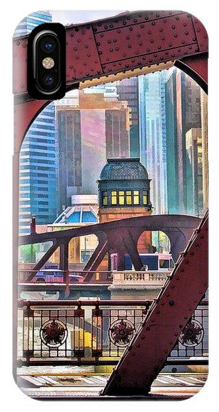 Chicago River Bridge Framed IPhone Case