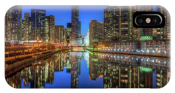 Chicago River iPhone Case - Chicago River East by Steve Gadomski