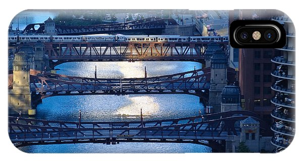 Chicago River iPhone Case - Chicago River First Light by Steve Gadomski