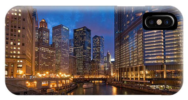 Chicago River iPhone Case - Chicago River Lights by Steve Gadomski