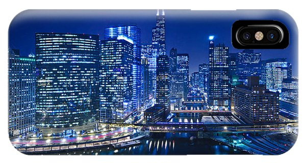 Chicago River iPhone Case - Chicago River Panorama by Steve Gadomski