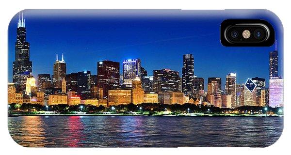 Chicago Shorline At Night IPhone Case