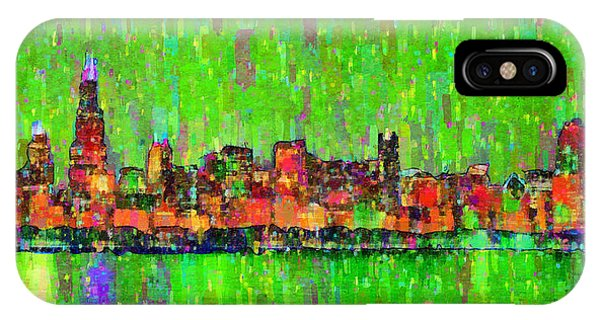Chicago Skyline 206 - Da IPhone Case