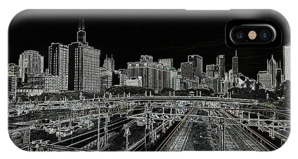 Chicago Skyline And Tracks IPhone Case