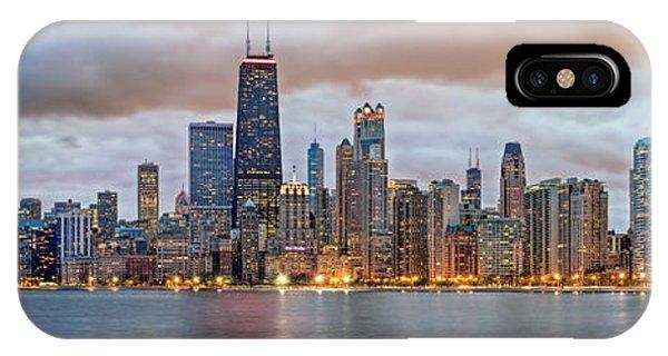 Chicago Skyline At Dusk IPhone Case