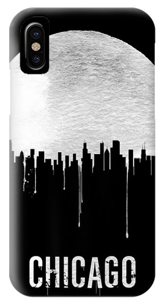 Chicago Skyline iPhone Case - Chicago Skyline Black by Naxart Studio