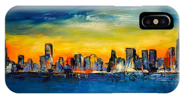 Fauvism iPhone Case - Chicago Skyline by Elise Palmigiani