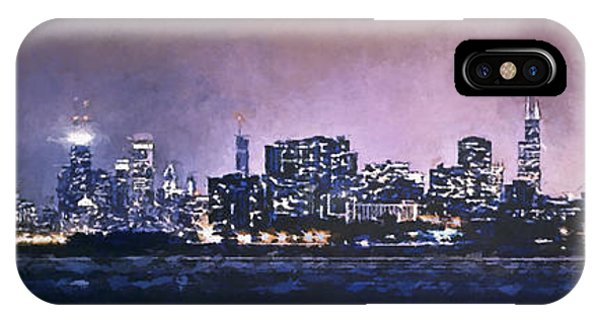 Downtown iPhone Case - Chicago Skyline From Evanston by Scott Norris