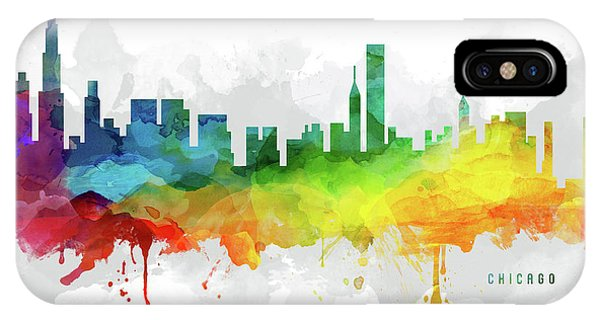 Chicago Art iPhone Case - Chicago Skyline Mmr-usilch05 by Aged Pixel