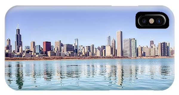 Chicago Skyline Reflecting In Lake Michigan IPhone Case