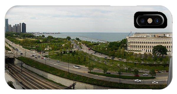 Chicago Skyline Showing Monroe Harbor IPhone Case