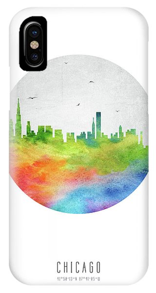 Chicago Art iPhone Case - Chicago Skyline Usilch20 by Aged Pixel