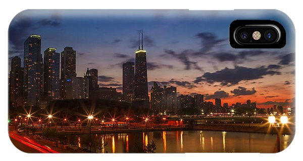 John Hancock Center iPhone Case - Chicago Sunset by Melanie Viola