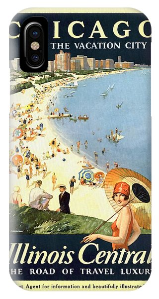 Chicago The Vacation City - Vintage Poster Restored IPhone Case