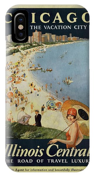 Chicago The Vacation City - Vintage Poster Vintagelized IPhone Case