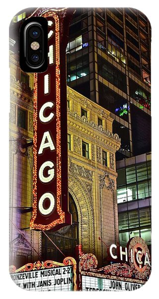 Chicago Theater Aglow IPhone Case
