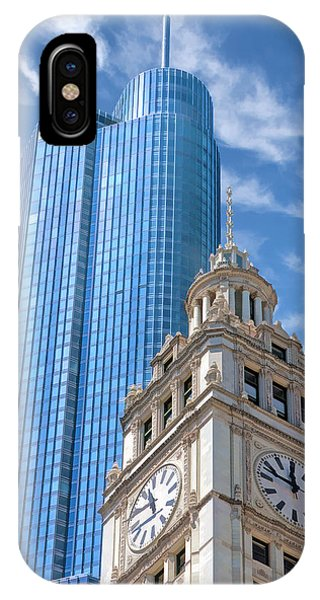 Chicago Trump And Wrigley Towers IPhone Case