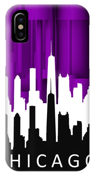Chicago Violet In Negative IPhone Case