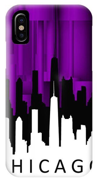 Chicago Violet Vertical  IPhone Case