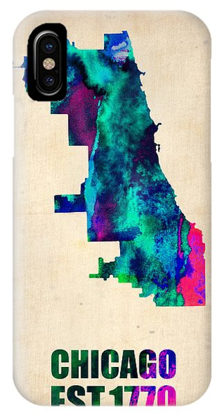 Chicago Watercolor Map IPhone Case